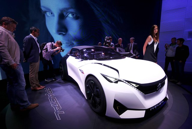 The new Peugeot Fractal Concept is presented during the media day at the Frankfurt Motor Show (IAA) in Frankfurt, Germany September 15, 2015. (Photo by Kai Pfaffenbach/Reuters)