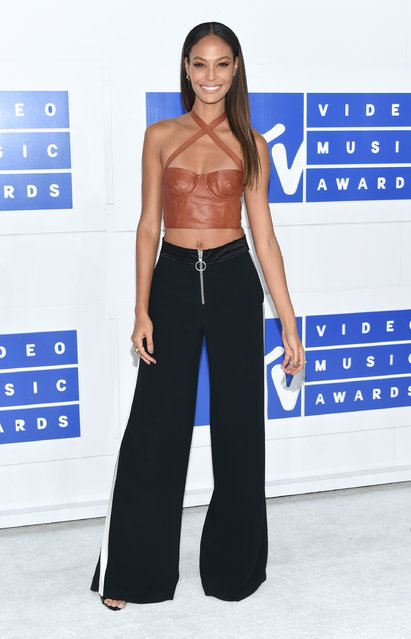 Joan Smalls arrives at the MTV Video Music Awards at Madison Square Garden on Sunday, August 28, 2016, in New York. (Photo by Evan Agostini/Invision/AP Photo)