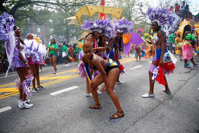 Participants dance during the West Indian Day Parade in the Brooklyn borough of New York September 5, 2016. (Photo by Eric Thayer/Reuters)
