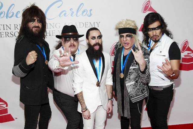 Members of Moderatto, a Mexican cover band, arrive at the 2015 Latin Recording Academy Person of the Year Tribute to Roberto Carlos in Las Vegas, Nevada November 18, 2015. (Photo by Steve Marcus/Reuters)