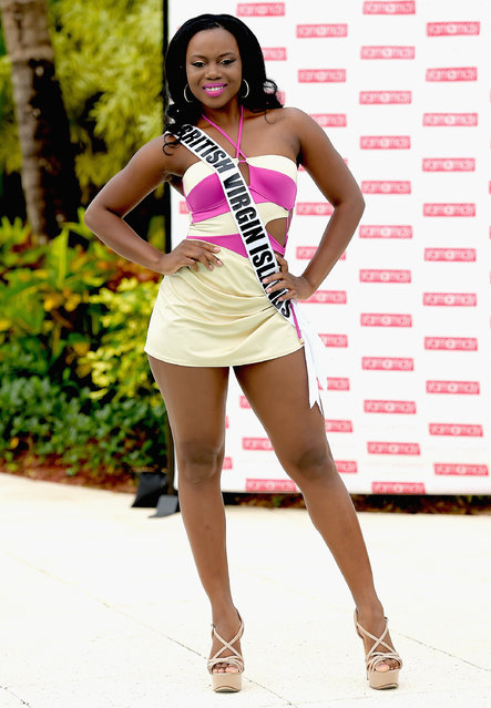 Miss British Virgin Islands Jaynene Lewis  participates in Miss Universe – Yamamay Swimsuit Runway Show at Trump National Doral on January 14, 2015 in Doral, Florida. (Photo by Gustavo Caballero/Getty Images)