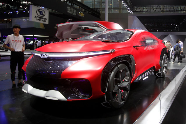 A concept car by Chery is shown at China (Guangzhou) International Automobile Exhibition in Guangzhou, China November 18, 2016. (Photo by Bobby Yip/Reuters)