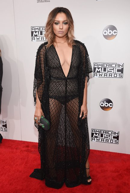 Actress Kat Graham attends the 2016 American Music Awards at Microsoft Theater on November 20, 2016 in Los Angeles, California. (Photo by Kevin Mazur/AMA2016/WireImage)