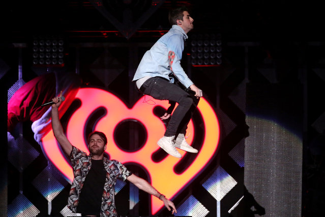 The Chainsmokers perform at Z100's Jingle Ball in Manhattan, New York, U.S., December 9, 2016. (Photo by Andrew Kelly/Reuters)