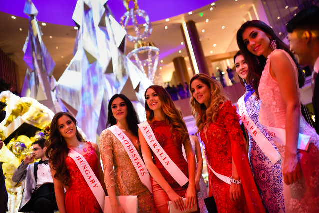 Miss World Contestants mingle at the grand opening party for the MGM Casino in the National Harbor on December 8, 2016. (Photo by Sarah L. Voisin/The Washington Post)