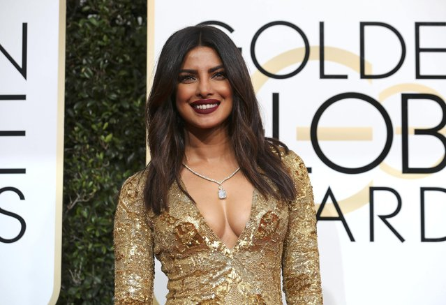 Actress Priyanka Chopra arrives at the 74th Annual Golden Globe Awards in Beverly Hills, California, U.S., January 8, 2017. (Photo by Mike Blake/Reuters)