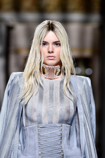 Kendall Jenner walks the runway during the Balmain show as part of the Paris Fashion Week Womenswear Fall/Winter 2016/2017 on March 3, 2016 in Paris, France. (Photo by Pascal Le Segretain/Getty Images)