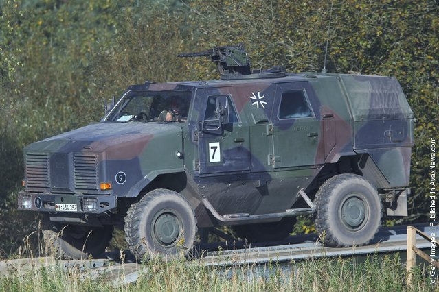 A Dingo armoured transporter of the German Bundeswehr