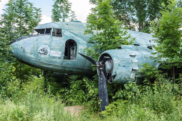 Many of the aircraft destroyed in conflicts have been abandoned at the site. (Photo by Thomas Windisch/Exclusivepix Media)