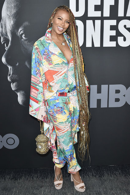 "Eva Marcille attends HBO's ""The Defiant  Ones"" Premiere at Paramount Studios on June 22, 2017 in Los Angeles, California. (Photo by David Crotty/Patrick McMullan via Getty Images)"