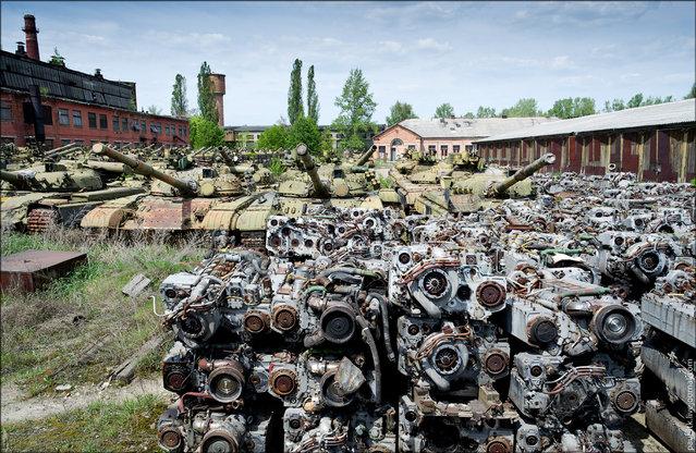 Abandoned Armoured Repair Plant in Kharkiv