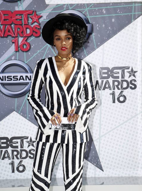 Musical artist Janelle Monae arrives at the 2016 BET Awards in Los Angeles, California U.S. June 26, 2016. (Photo by David McNew/Reuters)