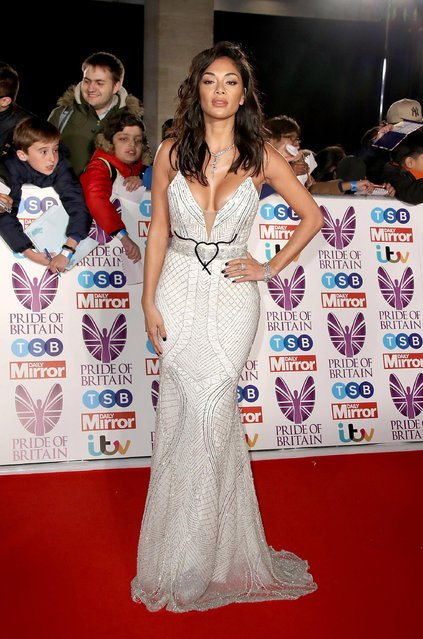 Nicole Scherzinger attends the Pride Of Britain Awards at Grosvenor House, on October 30, 2017 in London, England. (Photo by Mike Marsland/Mike Marsland/WireImage)