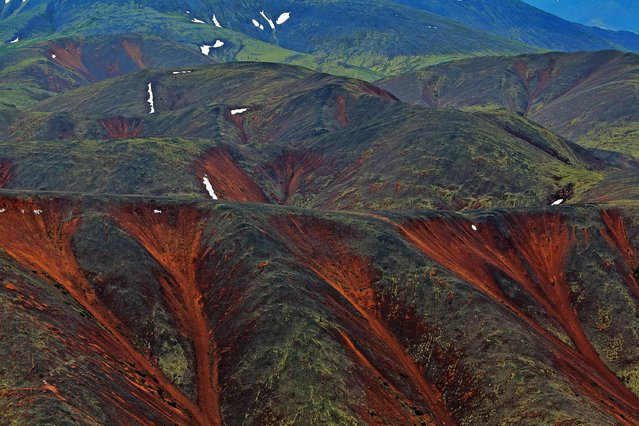 "Russia From Above: ""These Hills are Alive"". In the Magadan Region of far east Russia. (Photo by Sergey Fomin)"