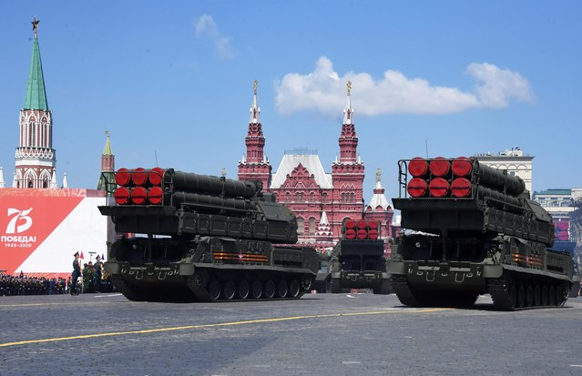 Russian Buk-M3 missile systems drive during the Victory Day Parade in Red Square in Moscow, Russia, June 24, 2020. (Photo by Iliya Pitalev/Host Photo Agency via Reuters)
