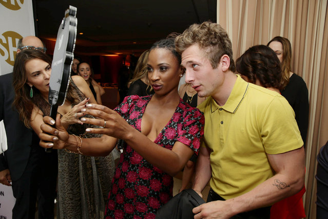 Shanola Hampton and Jeremy Allen White seen at Showtime's Emmy Eve 2015 at Sunset Tower Hotel on Saturday, September 19, 2015, in Los Angeles, CA. (Photo by Eric Charbonneau/Invision for Showtime/AP Images)
