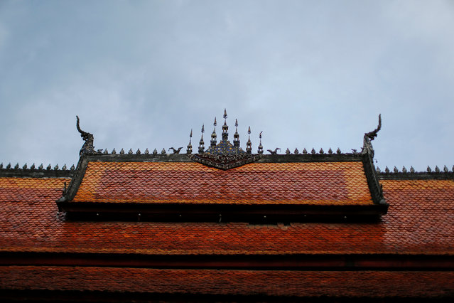 The roof of the Wat Sene Buddhist temple is seen in Luang Prabang, Laos July 30, 2016. (Photo by Jorge Silva/Reuters)