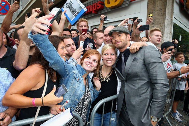 "Kellan Lutz attends the premiere of the film ""The Expendables 3"" at Residenz Kino on August 6, 2014 in Cologne, Germany. (Photo by Mathis Wienand/WireImage)"