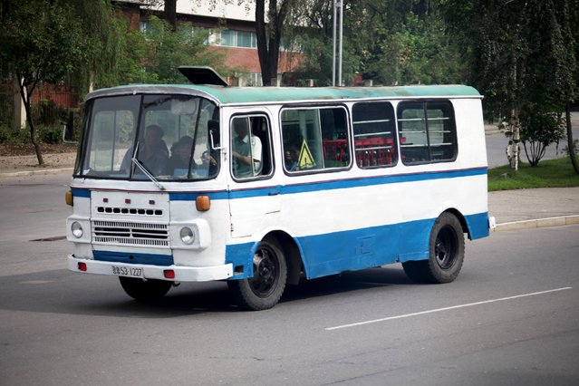 A bus travels in Pyongyang, North Korea, in this September 6, 2010 handout. It's not Amazon or FedEx, but in North Korea's fledgling market economy a fleet of repurposed old passenger buses is the next best thing for moving trade goods, from rice to textiles and livestock, between far-flung corners of the country. (Photo by Roman Harak/Reuters)