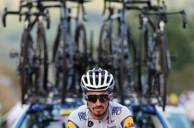 Deceuninck-Quick Step rider Julian Alaphilippe of France in action during stage 8 of the Tour de France on September 5, 2020. (Photo by Benoit Tessier/Reuters)