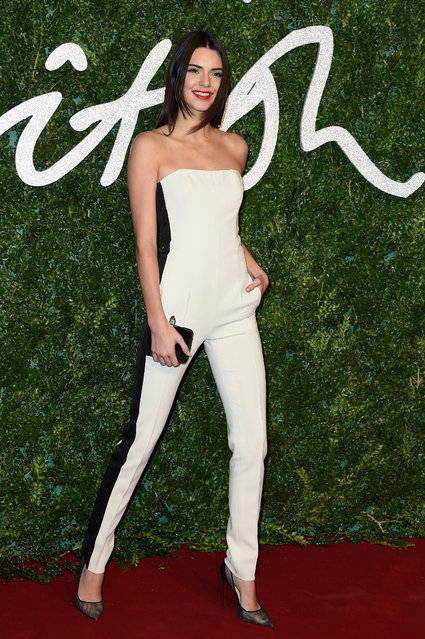 Kendall Jenner attends the British Fashion Awards at London Coliseum on December 1, 2014 in London, England. (Photo by Pascal Le Segretain/Getty Images)