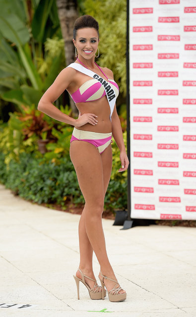 Miss Canada Chanel Beckenlehner  participates in Miss Universe – Yamamay Swimsuit Runway Show at Trump National Doral on January 14, 2015 in Doral, Florida. (Photo by Gustavo Caballero/Getty Images)
