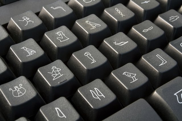 A keyboard with nonsensical characters. (Photo by Giuseppe Colarusso/Caters News)