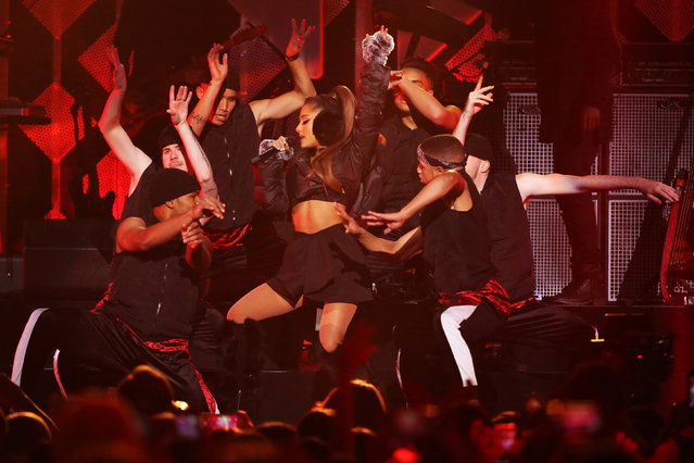 Ariana Grande performs at Z100's Jingle Ball in Manhattan, New York, U.S., December 9, 2016. (Photo by Andrew Kelly/Reuters)