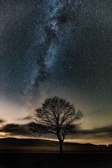 Milky Way in Malham, October 22, 2016. (Photo by Dave Zdanowicz/Rex Features/Shutterstock)
