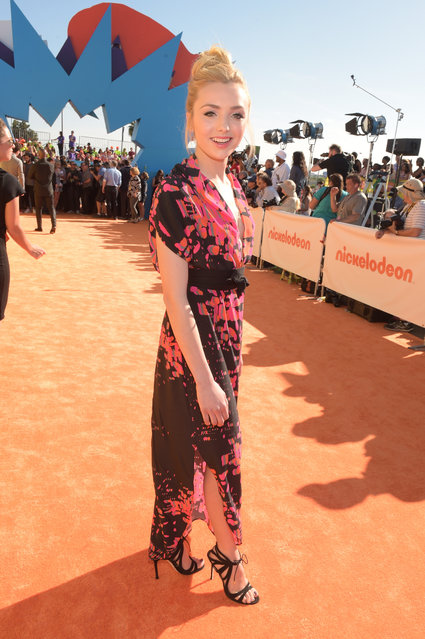 Actress Peyton List attends Nickelodeon's 28th annual Kids' Choice Awards held at The Forum on March 28, 2015, in Inglewood, California. (Photo by Jason Kempin/Getty Images)