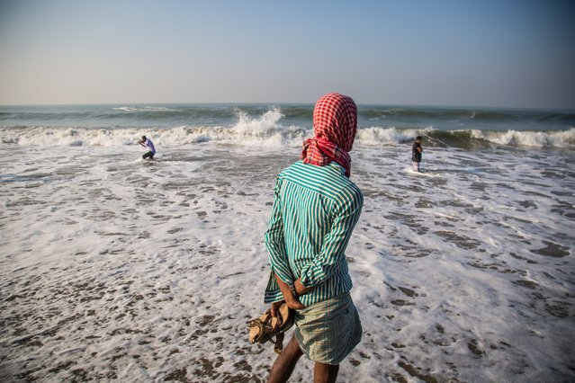 For centuries, the ocean has supported the livelihoods of the people of Kutubdia para, in Cox's Bazar, and Kutubdia island. But the rising sea levels along the coast have brought fresh challenges. UN scientists predict some of the worst impacts of climate change will occur in south-east Asia. They believe more than 25 million people in Bangladesh will be at risk from sea-level rise by 2050. (Photo by Noor Alam/Majority World)