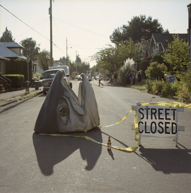 """""""Street Closed...because fish head skate jam BBQ block party"""". (Photo by Damian Riehl)"""