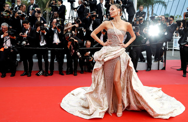"Russian model Natasha Poly poses as she arrives for the screening of the film ""Oh Mercy ! (Roubaix, une Lumiere)"" at the 72nd edition of the Cannes Film Festival in Cannes, southern France, on May 22, 2019. (Photo by Eric Gaillard/Reuters)"