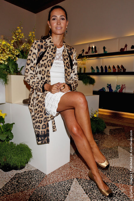 Caterina Balivo attends the Giuseppe Zanotti Design Spring/Summer 2012 collection press preview as part Milan Womenswear Fashion Week