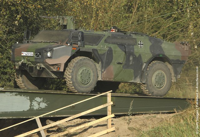 A Fennek aromoured reconaissance vehicle of the German Bundeswehr