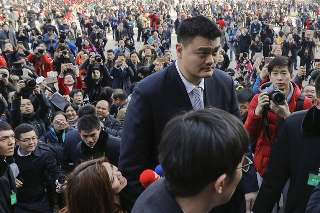Former NBA star Yao Ming arrives at the Great Hall of the People to attend the opening ceremony of the Chinese People's Political Consultative Conference (CPPCC) on March 3, 2017 in Beijing, China. The Chinese People's Political Consultative Conference opens on March 3 in Beijing. (Photo by Lintao Zhang/Getty Images)