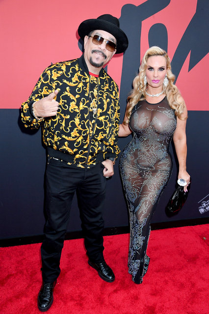 Ice-T and Coco Austin attend the 2019 MTV Video Music Awards at Prudential Center on August 26, 2019 in Newark, New Jersey. (Photo by Jeff Kravitz/FilmMagic)