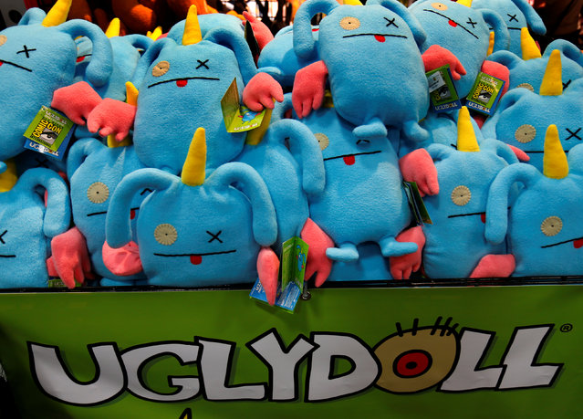 Uglydolls are sown for sale on the convention floor during opening day of Comic-Con International in San Diego, California, United States July 21, 2016. (Photo by Mike Blake/Reuters)