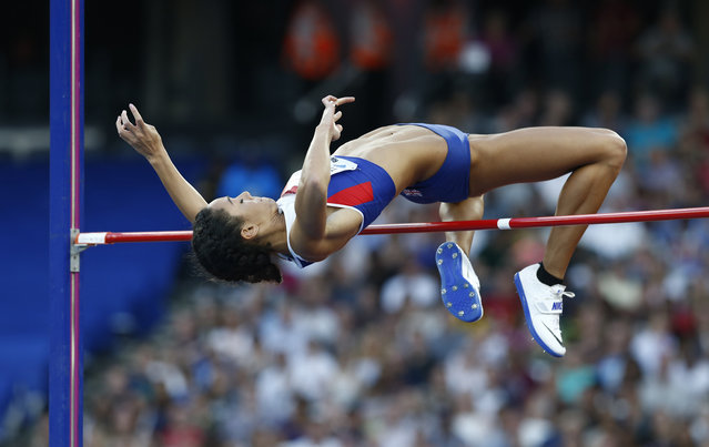 Britain Athletics, 2016 London Anniversary Games, Queen Elizabeth Olympic Park, Stratford, London on July 22, 2016. Great Britain's Katarina Johnson-Thompson in action during the Women's High Jump. (Photo by Eddie Keogh/Reuters/Livepic)