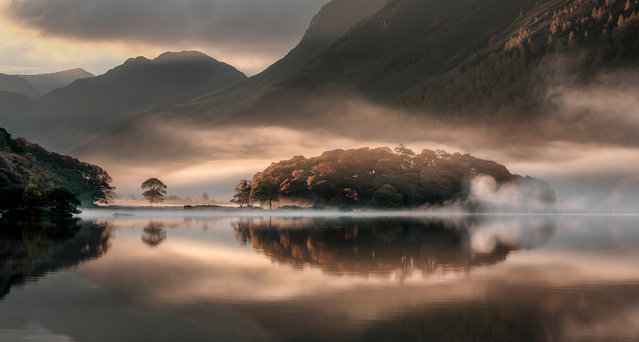 Mist and Reflections, Crummock Water, Cumbria, England, 2013. (Photo by Tony Bennett/The Guardian)