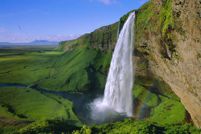 Seljalandsfoss waterfall in the south of the island, Iceland. (Photo by Chris Kober/Getty Images/Robert Harding World Imager)