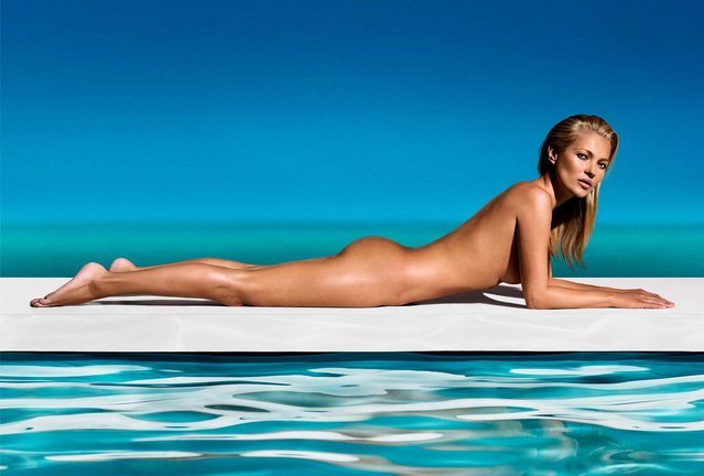St. Tropez released this and several other photos of Kate Moss as part of the announcement that she would represent the company, on May 9, 2013. (Photo by St. Tropez via Getty Images)
