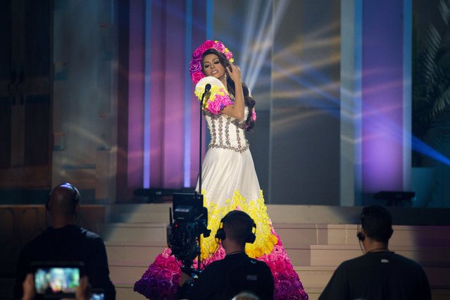 Miss Philippines, Mary Jean Lastimosa, poses for the judges, during the national costume show during the 63rd annual Miss Universe Competition in Miami, Fla., Wednesday, January 21, 2015. (Photo by J. Pat Carter/AP Photo)