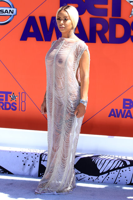 Alexis Sky attends the 2018 BET Awards at Microsoft Theater on June 24, 2018 in Los Angeles, California. (Photo by Leon Bennett/Getty Images)