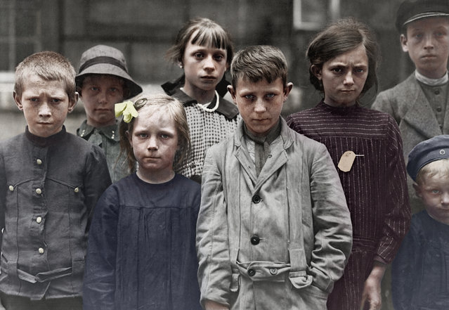 Refugee children at Grand Val, near Paris, France, where a home has been established for them by the A.R.C.  Ca. 1918-19. American Red Cross.