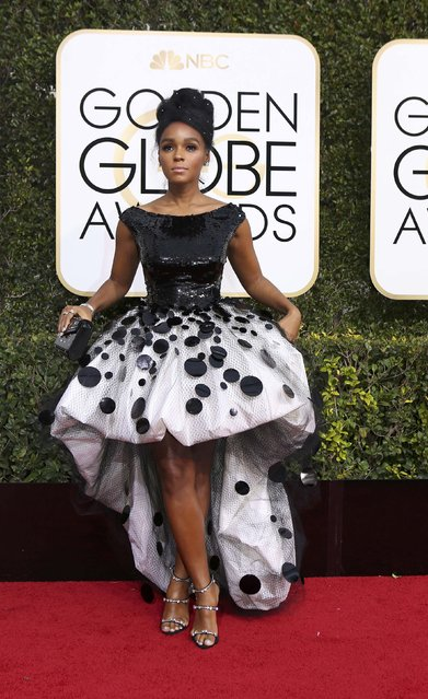 Actress Janelle Monae arrives at the 74th Annual Golden Globe Awards in Beverly Hills, California, U.S., January 8, 2017. (Photo by Mike Blake/Reuters)