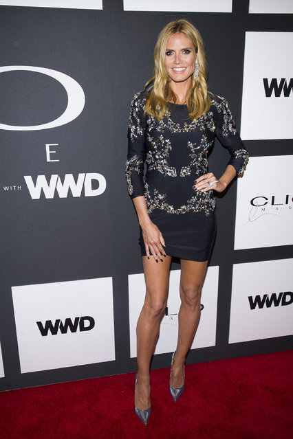 Heidi Klum attends the 2015 Clio Image Awards at The Plaza Hotel on Tuesday, May 5, 2015, in New York. (Photo by Charles Sykes/Invision/AP Photo)