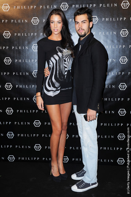 Devin del Santo (R)  attends the Philipp Plein Urban Jungle Spring/Summer 2012 fashion show as part Milan Womenswear Fashion Week