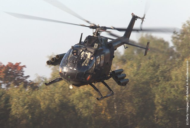A BO 105 attack helicopter