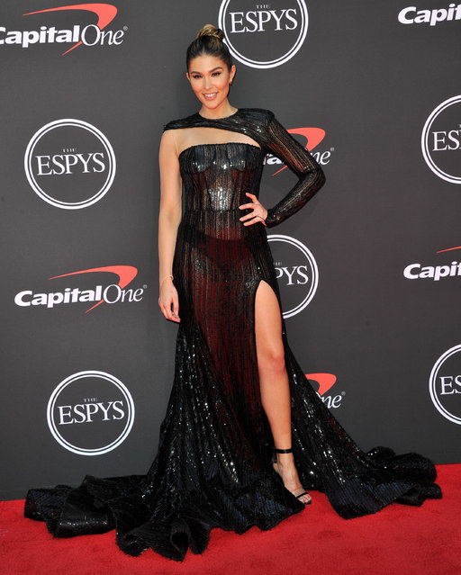 Cathy Kelley attends the 2019 ESPY Awards at Microsoft Theater on July 10, 2019 in Los Angeles, California. (Photo by Allen Berezovsky/WireImage)